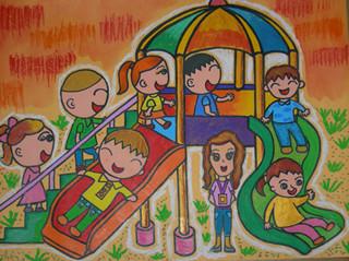 儿童刮画简笔画-2011年中小学生绘画比赛获奖作品